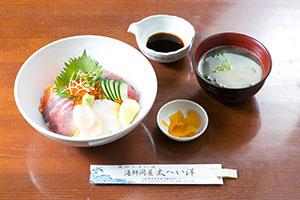 海鮮丼(1,200円)