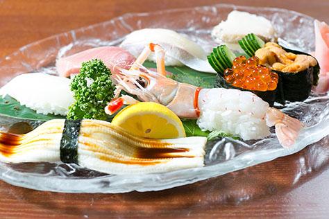 上にぎり定食(1,800円)