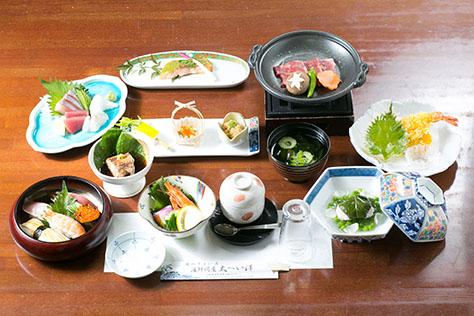 会席料理 5,000円コースの一例